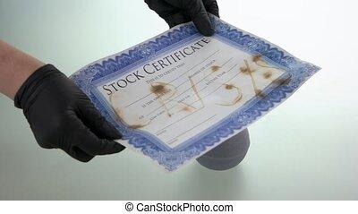 Stock market crash concept. Depreciation on shares. Covid-19...