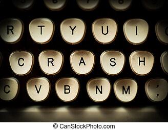 Stock market crash concept