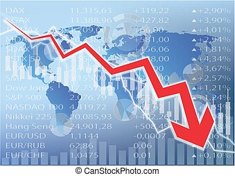 stock market crash illustration