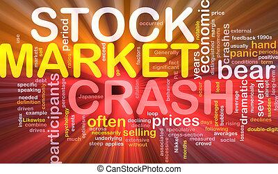 Stock market crash is bone background concept glowing -...