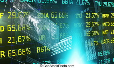 Stock market data and statistical data processing against ...