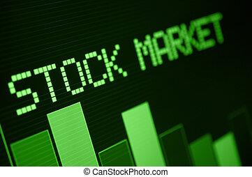 Stock Market Down - Stock Market - Column Going Down on...