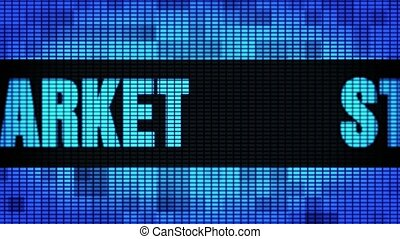 Stock Market Front Text Scrolling LED Wall Pannel Display Sign Board
