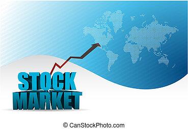 stock market graph arrow blue business