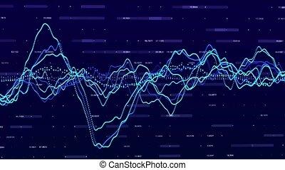 Stock market graph. Big data visualization. investment graph...