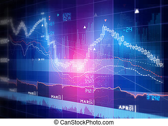 Stock Market Graph - Candle stick stock market tracking ...