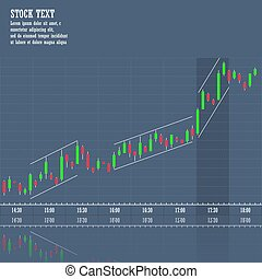 Stock market graph of growth trend