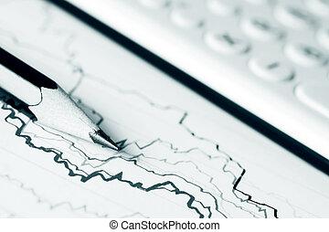 Stock market graphs