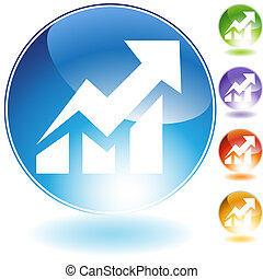 Stock Market Icon web icon image isolated on a white...