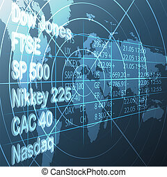 Stock market - Illustration with stock market share list and...