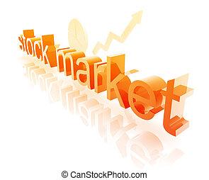 Stock market estate economy trend concept illustration improving upwards