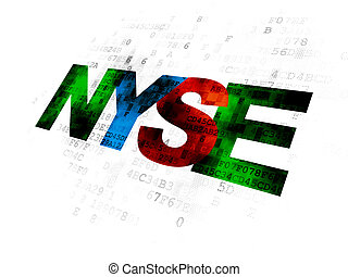 Stock market indexes concept: NYSE on Digital background