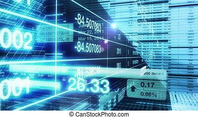 stock market, intro, animation