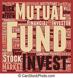 Stock Market Know Mutual Funds text background wordcloud concept