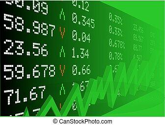 stock market, mit, zahlen