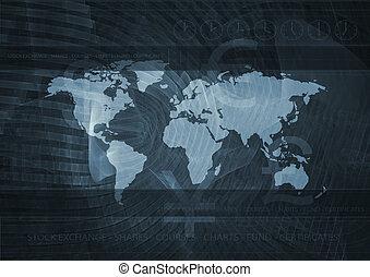 stock market on black background