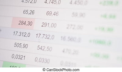Stock market online downtrend chart of Bitcoin - investment, e-commerce, finance concept.