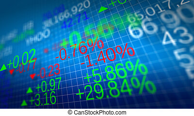Stock market. Shallow depth of fields. - Display of Stock...