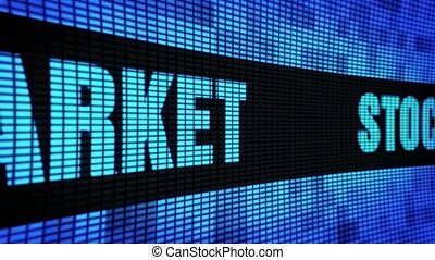 Stock Market Side Text Scrolling LED Wall Pannel Display Sign Board