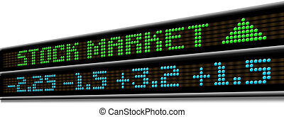 Stock Market ticker - Stock Market Up ticker