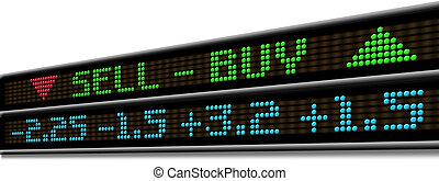 stock market, ticker