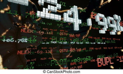 Stock Market Tickers. Loopable.