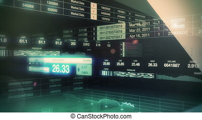 Stock Market Tickers Seamless Loop - Looping animation of...