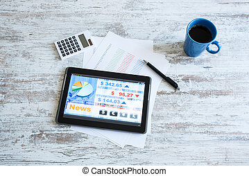 Stock market trading app on a Tablet PC