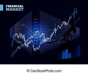 Stock Market Vector Chart