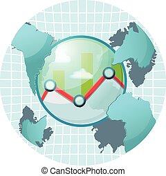 Stock Market World Symbol Icon