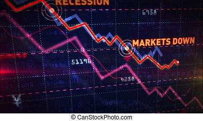 Stock markets down chart