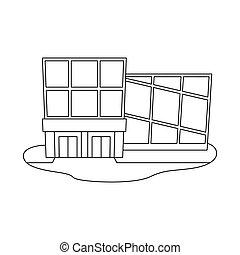 stock., moderno, vector, colección, emporio, ilustración, logo., tienda, icono
