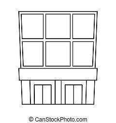 stock., moderno, vector, diseño, colección, emporio, logo., tienda, icono