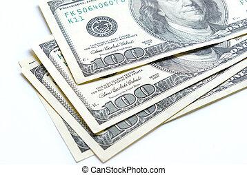 stock money on the white background