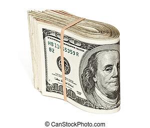 Stock Of Hundred Dollar Bills