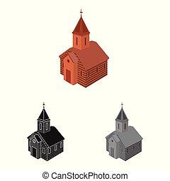 stock., orthodoxe, signe., objet, isolé, collection, vecteur, église, chapelle, icône