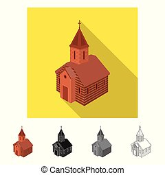 stock., orthodoxe, symbole., collection, vecteur, conception, église, chapelle, icône