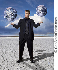 Stock Photo: Balancing Global Business