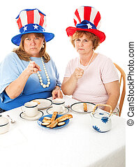 Stock Photo of Angry Tea Party Voters