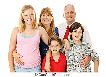 Stock Photo of Nuclear Family