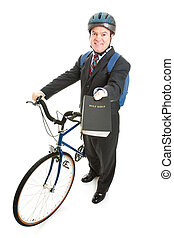 Stock Photo of Religious Missionary with Bicycle - Religious...
