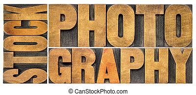 stock photography word abstract in vintage wood type