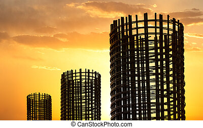 Stock rebar at construction