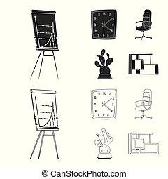 stock., segno., lavoro, collezione, vettore, disegno, casa, mobilia, icona