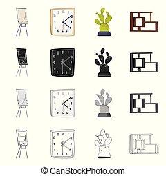 stock., segno., lavoro, illustrazione, vettore, collezione, casa, mobilia, icona