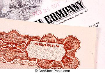 Company Stock Certificates