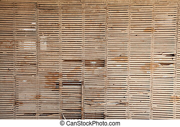 STOCK-SHINE-7983 - OLD STRIPPED LATH AND PLASTER WALL