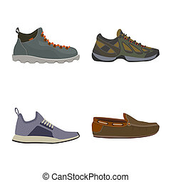 stock., signe., objet, isolé, collection, bitmap, chaussures, pied, chaussure, icône