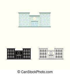 stock., szpital, symbol., ilustracja, klinika, wektor, zbiór, ambulans, ikona