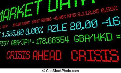 Stock ticker crisis ahead